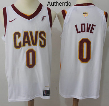 Nike Cavaliers #0 Kevin Love White The Finals Patch NBA Authentic Association Edition Jersey