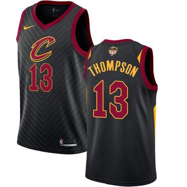 Nike Cavaliers #13 Tristan Thompson Black The Finals Patch NBA Swingman Statement Edition Jersey