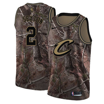 Nike Cavaliers #2 Collin Sexton Camo Women's NBA Swingman Realtree Collection Jersey