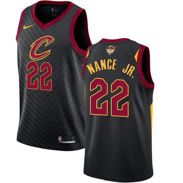 Nike Cavaliers #22 Larry Nance Jr. Black The Finals Patch NBA Swingman Statement Edition Jersey