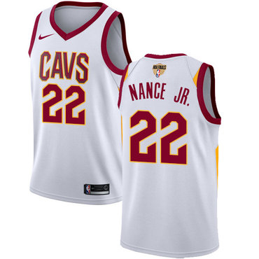 Nike Cavaliers #22 Larry Nance Jr. White The Finals Patch NBA Swingman Association Edition Jersey