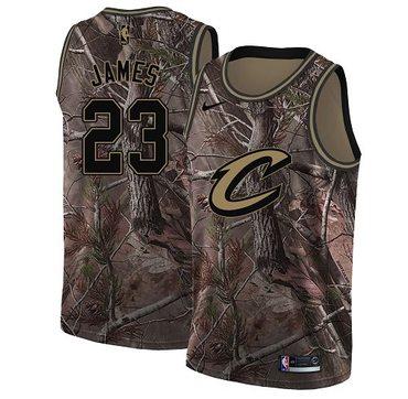 Nike Cavaliers #23 LeBron James Camo NBA Swingman Realtree Collection Jersey
