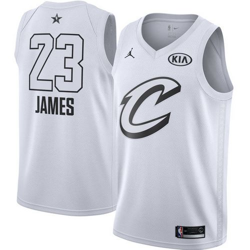 Nike Cavaliers #23 LeBron James White Youth NBA Jordan Swingman 2018 All-Star Game Jersey