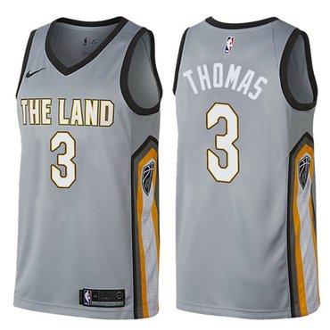 Nike Cavaliers #3 Isaiah Thomas Gray NBA Swingman City Edition Jersey