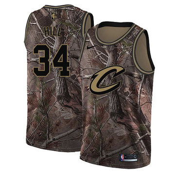 Nike Cavaliers #34 Tyrone Hill Camo NBA Swingman Realtree Collection Jersey
