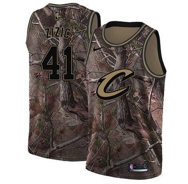 Nike Cavaliers #41 Ante Zizic Camo NBA Swingman Realtree Collection Jersey
