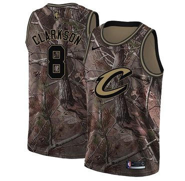 Nike Cavaliers #8 Jordan Clarkson Camo NBA Swingman Realtree Collection Jersey
