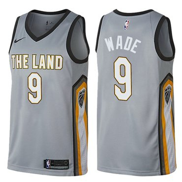 Nike Cavaliers #9 Dwyane Wade Gray NBA Swingman City Edition Jersey