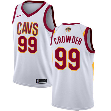 Nike Cavaliers #99 Jae Crowder White The Finals Patch NBA Swingman Association Edition Jersey