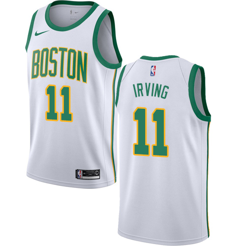 Nike Celtics #11 Kyrie Irving White NBA Swingman City Edition 2018 19 Jersey