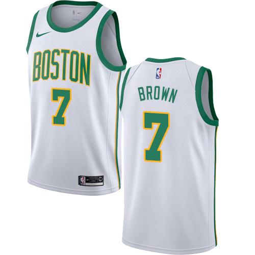 Nike Celtics #7 Jaylen Brown White NBA Swingman City Edition 2018 19 Jersey