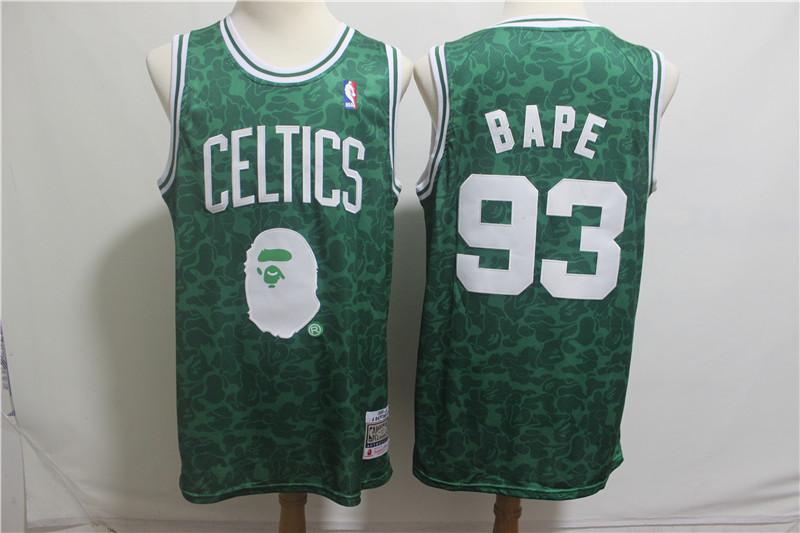 Nike Celtics 93 Bape Green Hardwood Classics Jersey