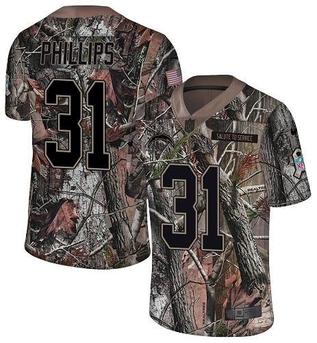 Nike Chargers #31 Adrian Phillips Camo Men's Stitched NFL Limited Rush Realtree Jersey