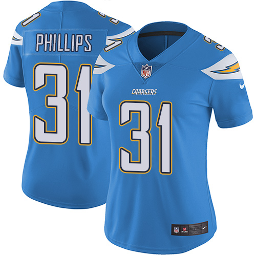 Nike Chargers #31 Adrian Phillips Electric Blue Alternate Women's Stitched NFL Vapor Untouchable Limited Jersey