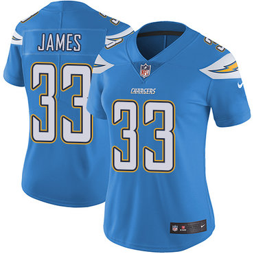 Nike Chargers #33 Derwin James Electric Blue Alternate Women's Stitched NFL Vapor Untouchable Limited Jersey