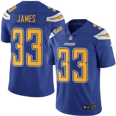 Nike Chargers #33 Derwin James Electric Blue Youth Stitched NFL Limited Rush Jersey