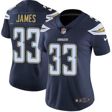 Nike Chargers #33 Derwin James Navy Blue Team Color Women's Stitched NFL Vapor Untouchable Limited Jersey