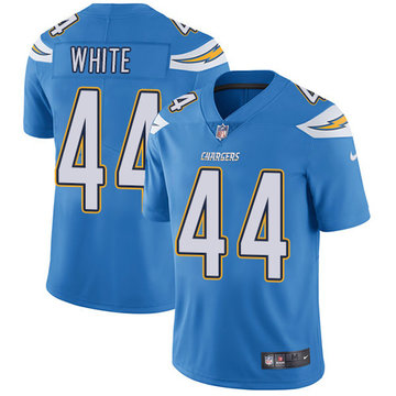 Nike Chargers #44 Kyzir White Electric Blue Alternate Men's Stitched NFL Vapor Untouchable Limited Jersey