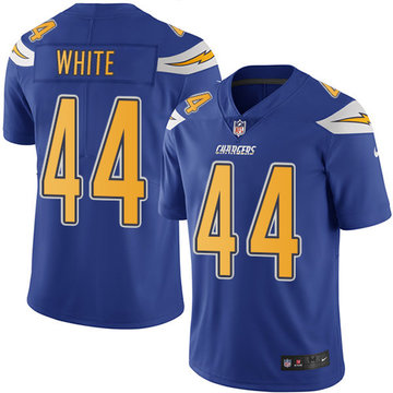Nike Chargers #44 Kyzir White Electric Blue Men's Stitched NFL Limited Rush Jersey