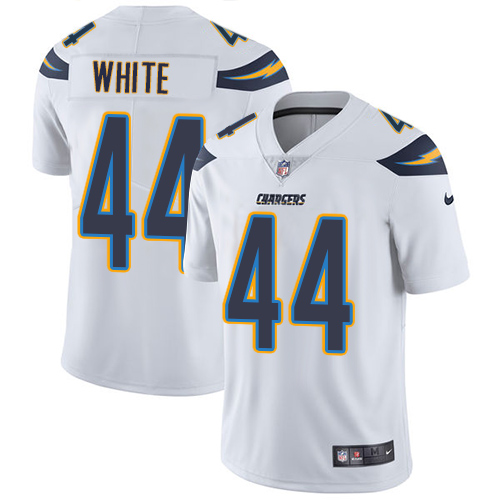 Nike Chargers #44 Kyzir White White Men's Stitched NFL Vapor Untouchable Limited Jersey