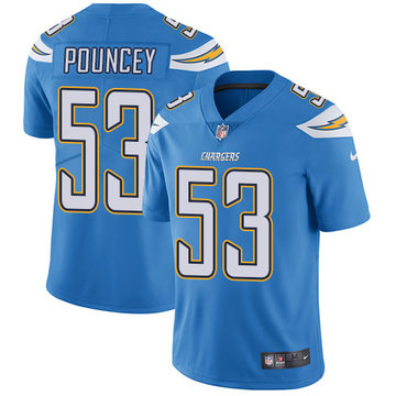 Nike Chargers #53 Mike Pouncey Electric Blue Alternate Men's Stitched NFL Vapor Untouchable Limited Jersey