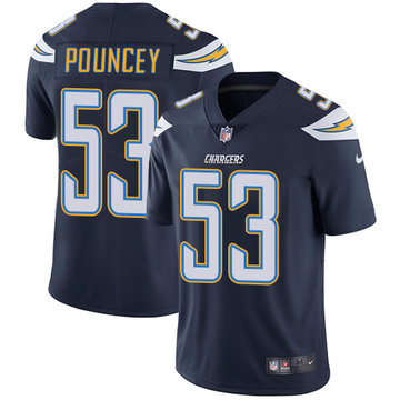 Nike Chargers #53 Mike Pouncey Navy Blue Team Color Men's Stitched NFL Vapor Untouchable Limited Jersey