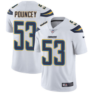 Nike Chargers #53 Mike Pouncey White Men's Stitched NFL Vapor Untouchable Limited Jersey