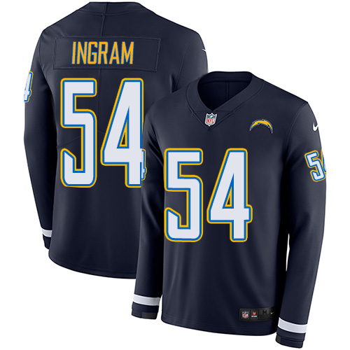 Nike Chargers #54 Melvin Ingram Navy Blue Team Color Men's Stitched NFL Limited Therma Long Sleeve Jersey