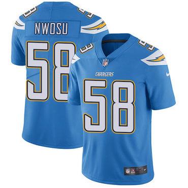 Nike Chargers #58 Uchenna Nwosu Electric Blue Alternate Youth Stitched NFL Vapor Untouchable Limited Jersey
