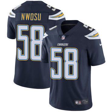 Nike Chargers #58 Uchenna Nwosu Navy Blue Team Color Youth Stitched NFL Vapor Untouchable Limited Jersey