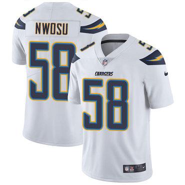 Nike Chargers #58 Uchenna Nwosu White Youth Stitched NFL Vapor Untouchable Limited Jersey