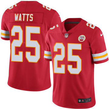 Nike Chiefs #25 Armani Watts Red Team Color Men's Stitched NFL Vapor Untouchable Limited Jersey