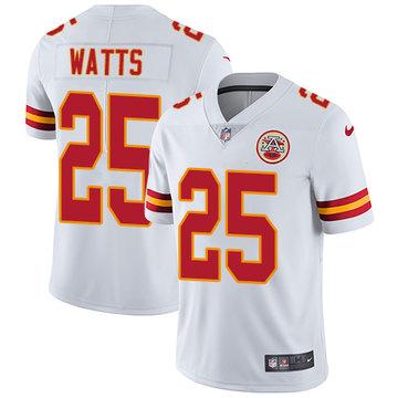Nike Chiefs #25 Armani Watts White Men's Stitched NFL Vapor Untouchable Limited Jersey