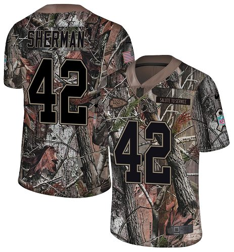 Nike Chiefs #42 Anthony Sherman Camo Men's Stitched NFL Limited Rush Realtree Jersey