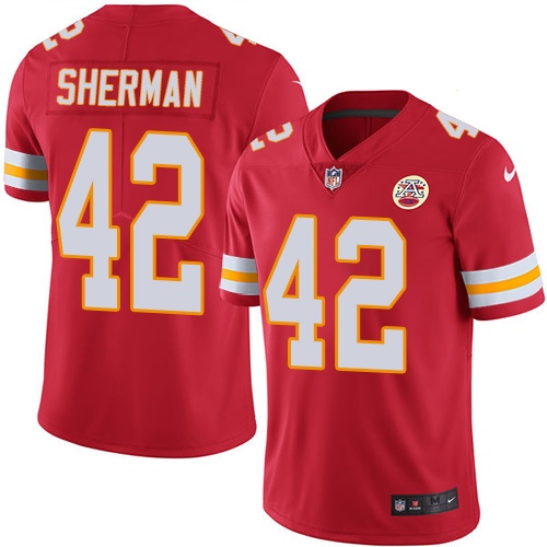 Nike Chiefs #42 Anthony Sherman Red Team Color Youth Stitched NFL Vapor Untouchable Limited Jersey