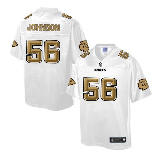 Nike Chiefs #56 Derrick Johnson White Men's NFL Pro Line Fashion Game Jersey