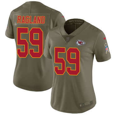Nike Chiefs #59 Reggie Ragland Olive Women's Stitched NFL Limited 2017 Salute to Service Jersey