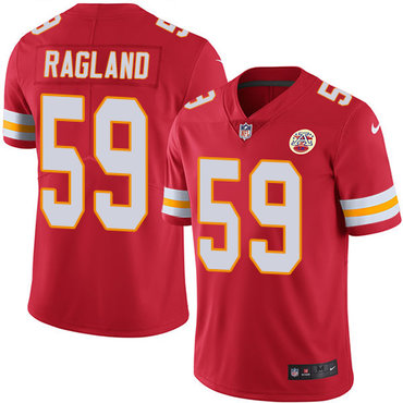 Nike Chiefs #59 Reggie Ragland Red Team Color Youth Stitched NFL Vapor Untouchable Limited Jersey
