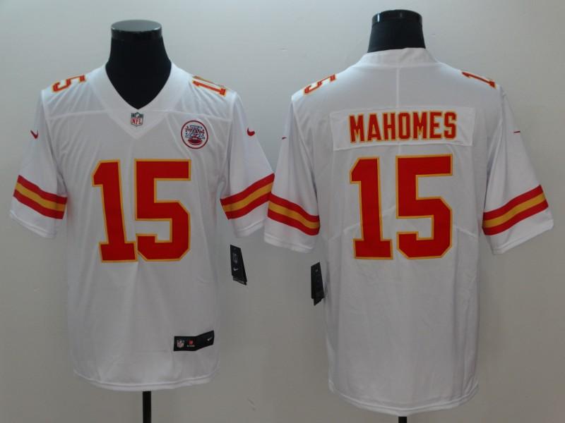 Nike Chiefs 15 Patrick Mahomes White Vapor Untouchable Limited Jersey