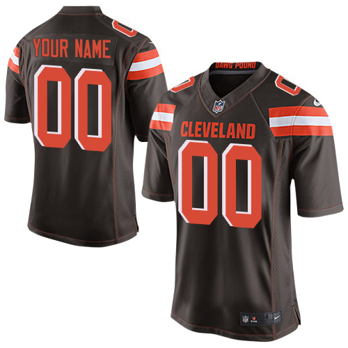 Nike Cleveland Browns Elite Brown Home Men's Jersey NFL Customized jerseys