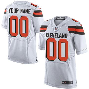 Nike Cleveland Browns Elite White Road Men's Jersey NFL  Customized jerseys