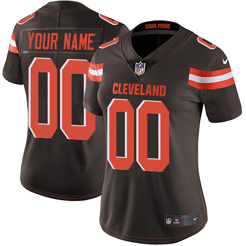 Nike Cleveland Browns Limited Brown Home Women's Jersey NFL  Vapor Untouchable Customized jerseys