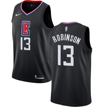 Nike Clippers #13 Jerome Robinson Black NBA Swingman Statement Edition Jersey