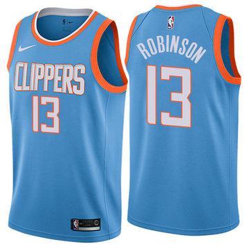 Nike Clippers #13 Jerome Robinson Blue NBA Swingman City Edition Jersey