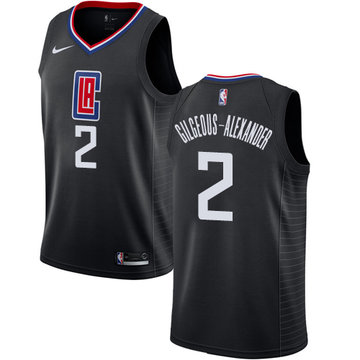 Nike Clippers #2 Shai Gilgeous-Alexander Black NBA Swingman Statement Edition Jersey