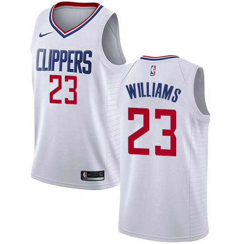 Nike Clippers #23 Louis Williams White NBA Swingman Association Edition Jersey