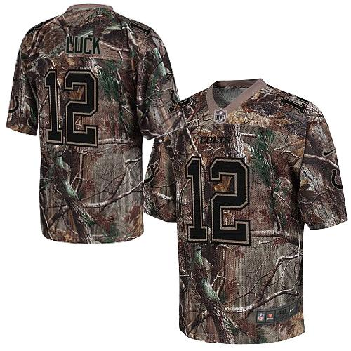Nike Colts #12 Andrew Luck Camo Men's Stitched NFL Realtree Elite Jersey