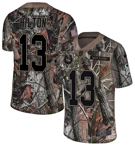 Nike Colts #13 T.Y. Hilton Camo Men's Stitched NFL Limited Rush Realtree Jersey