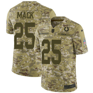 Nike Colts #25 Marlon Mack Camo Men's Stitched NFL Limited 2018 Salute To Service Jersey