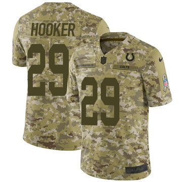 Nike Colts #29 Malik Hooker Camo Men's Stitched NFL Limited 2018 Salute To Service Jersey